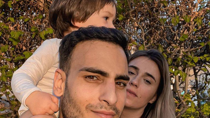 Timur Ülker mit seiner Partnerin Caroline und seinem Sohn Ilay im Mai 2021