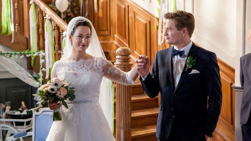"""Tina (Christin Balogh) und Ragnar (Jeroen Engelsman) in """"Sturm der Liebe"""""""