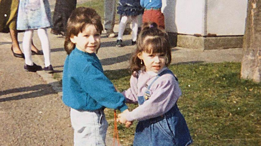 Tobias mit seiner Schwester Daniela Katzenberger