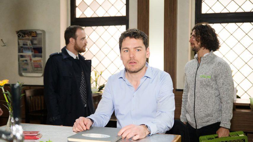 """Tobias (Patrick Müller), Till (Constantin Lücke) und Luke (Jakob Graf) bei """"Unter uns"""""""