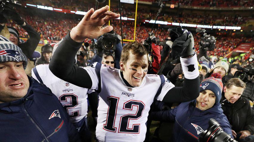 Tom Brady nach seinem Super-Bowl-Sieg mit den New England Patriots