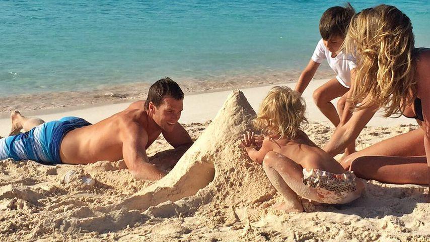 Tom Brady und Gisele Bündchen mit ihren beiden Kids