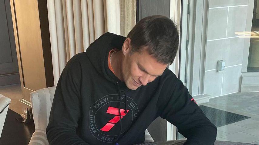 Tom Brady bei seiner Vertragsverlängerung, März 2021