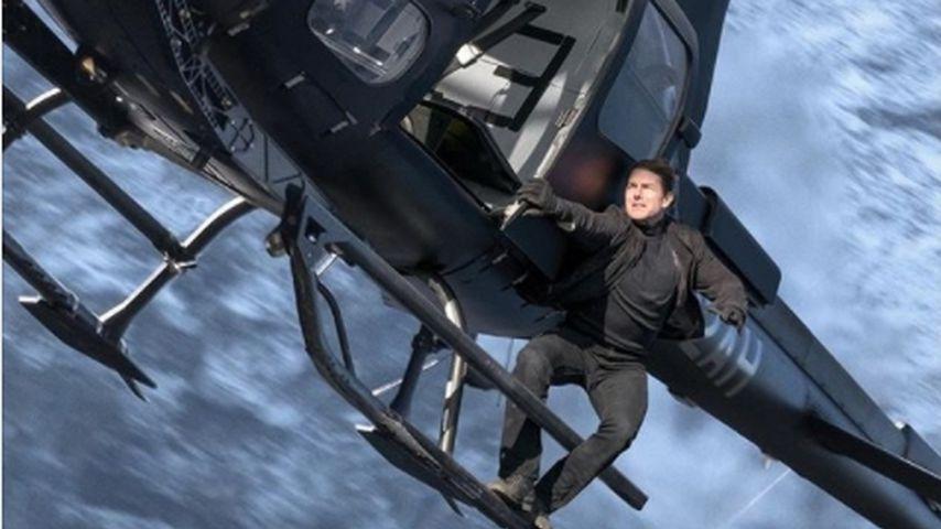 "Tom Cruise bei den Dreharbeiten zu ""Mission: Impossible – Fallout"""