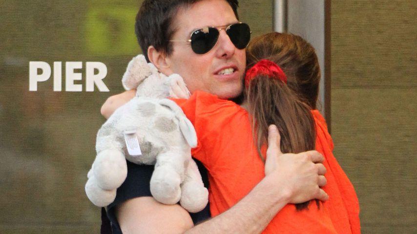 Tom Cruise mit Töchterchen Suri in 2012