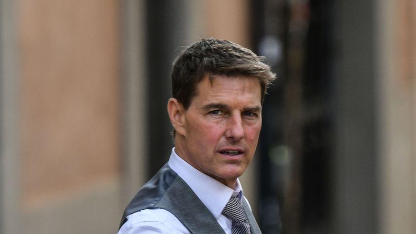 """Tom Cruise bei den Dreharbeiten zu """"Mission: Impossible 7"""" in Rom, Oktober 2020"""