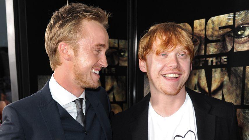 Tom Felton und Rupert Grint im Juli 2011 bei einer Filmpremiere in Los Angeles