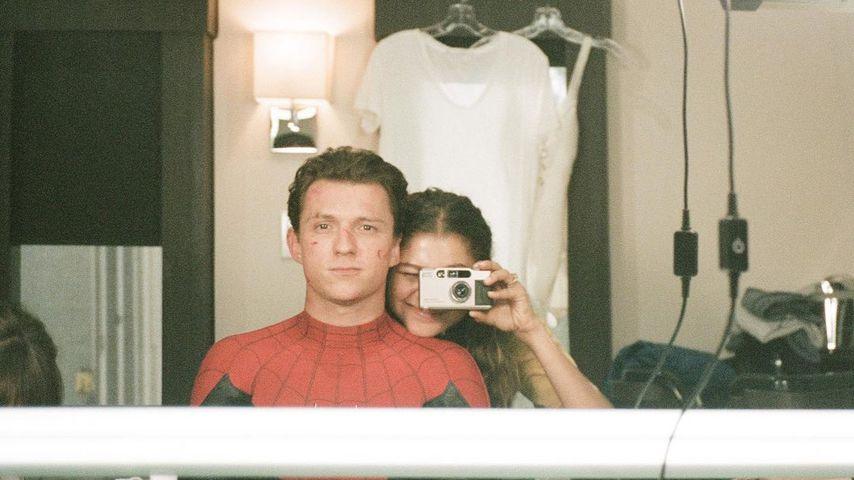 """Tom Holland und Zendaya am """"Spider-Man""""-Set"""