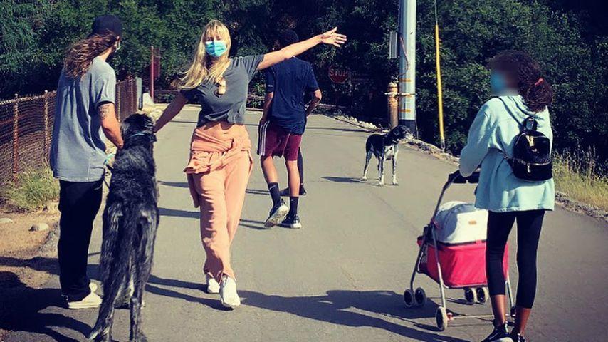 Tom Kaulitz, Heidi Klum und ihre Kinder im Jahr 2020
