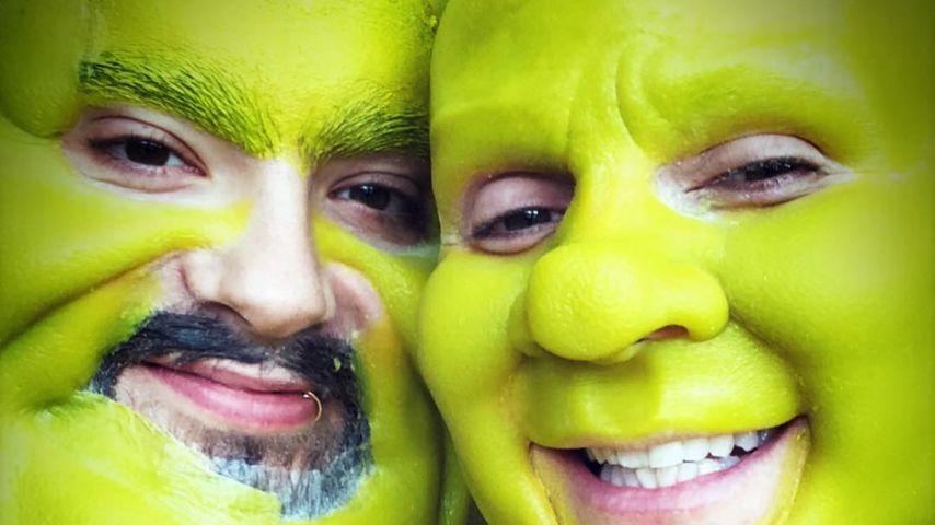 Also doch! Heidi Klum & Tom Kaulitz gehen als Fiona & Shrek