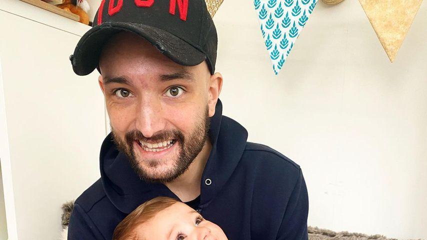 Tom Parker mit seinen Kindern Aurelia und Bodhi