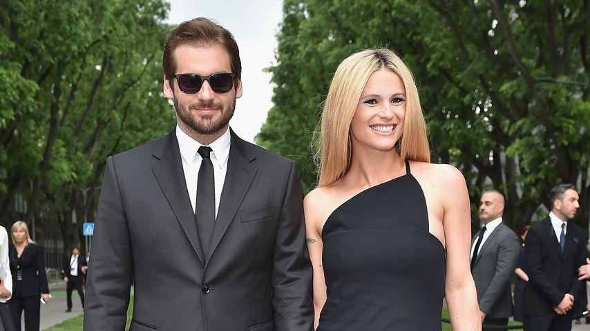Tomaso Trussardi und Michelle Hunziker, 2015