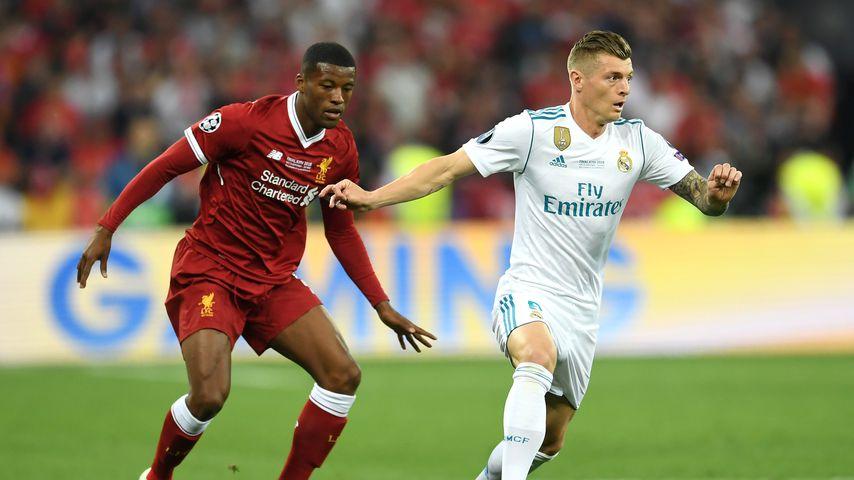 Toni Kroos (r.) während des Champions League-Finales gegen Liverpool