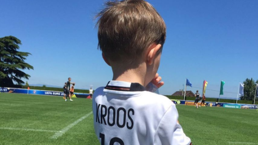 Süßer Support: Toni Kroos' Söhnchen ist sein größter Fan