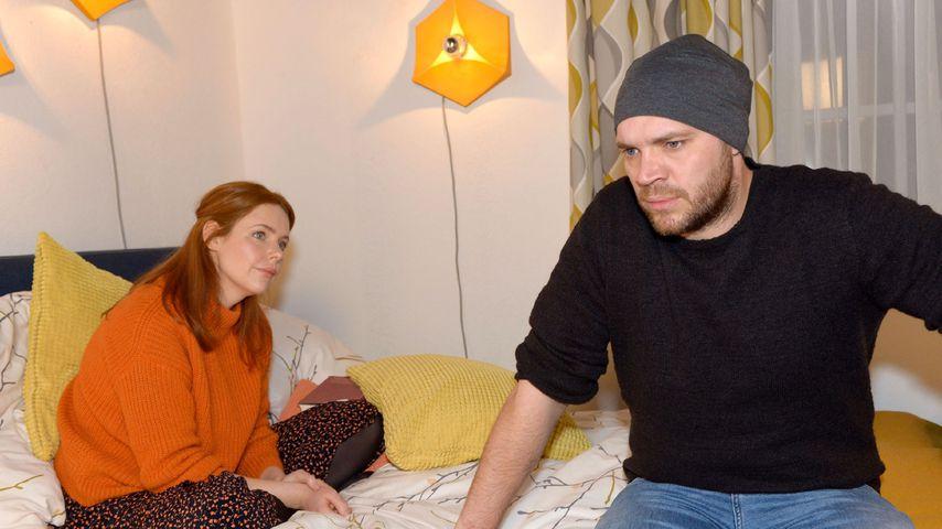 """Toni (Olivia Marei) und Erik (Patrick Heinrich) bei """"Gute Zeiten, schlechte Zeiten"""""""