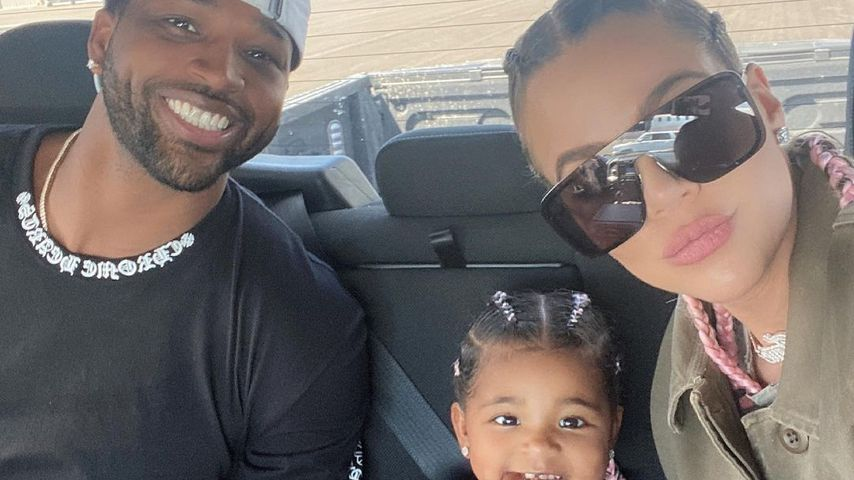Tristan Thompson and Khloé Kardashian with their daughter True