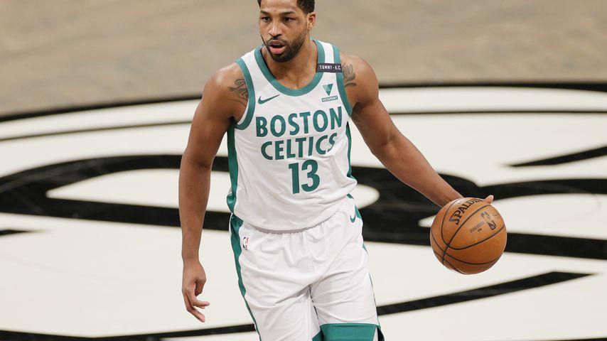 Tristan Thompson bei einem Basketballspiel in NYC im April 2021