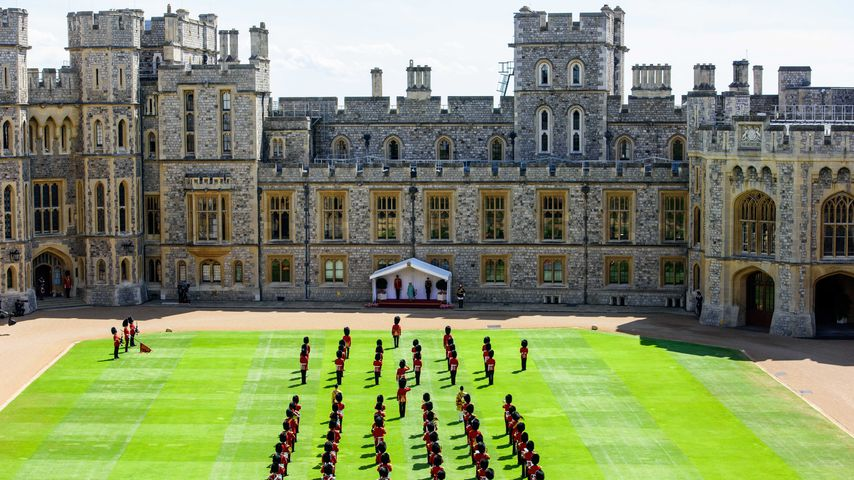 Trooping the Colour auf Schloss Windsor 2020