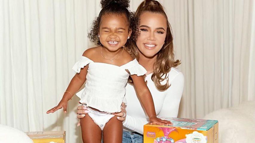 True Thompson und Khloé Kardashian im Juni 2020