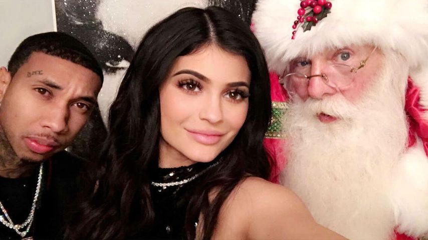 Tyga und Kylie Jenner auf der Weihnachtsfeier der Kardashians 2016
