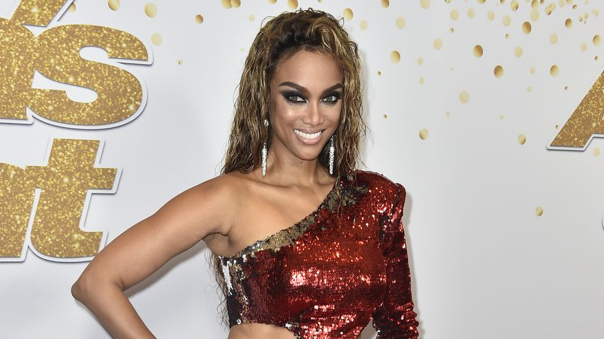 Hot or not? Tyra Banks im Chaos-Camouflage-Look