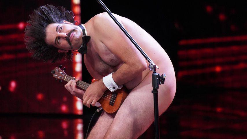 Nur mit Ukulele am Leib: Nackt-Auftritt beim Supertalent!