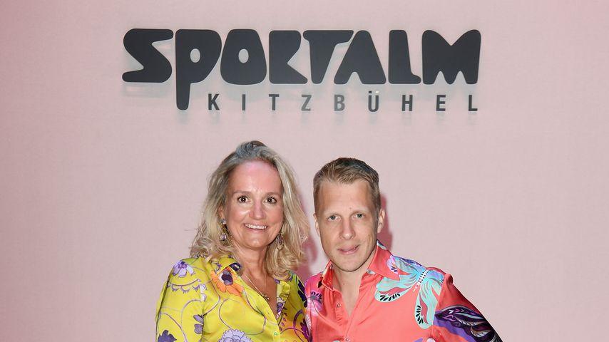 Ulli Ehrlich und Oliver Pocher im Juli 2019 bei der Sportalm-Fashionshow