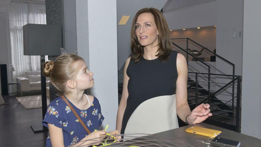 Ulrike Frank mit ihrer Serien-Tochter