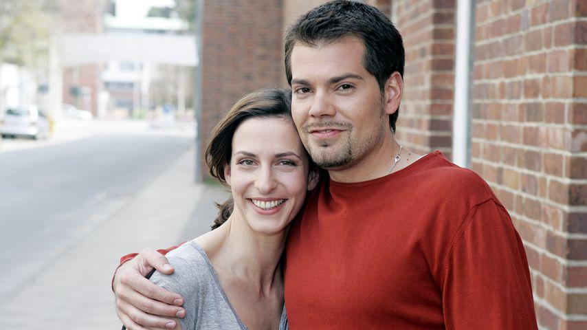 Ulrike Frank und Daniel Fehlow 2006 am GZSZ-Set