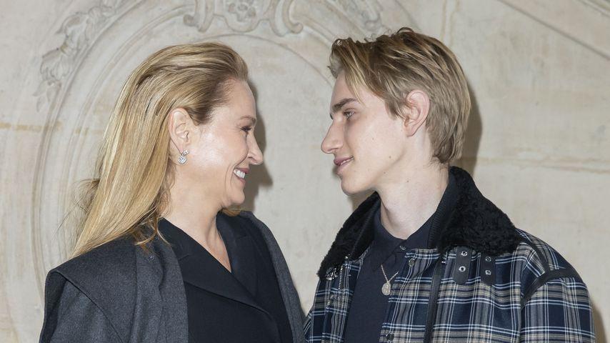 Uma Thurman mit ihrem Sohn Levon