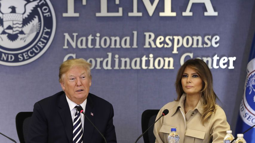US-Präsident Donald Trump und seine Frau Melania am 6. Juni 2018