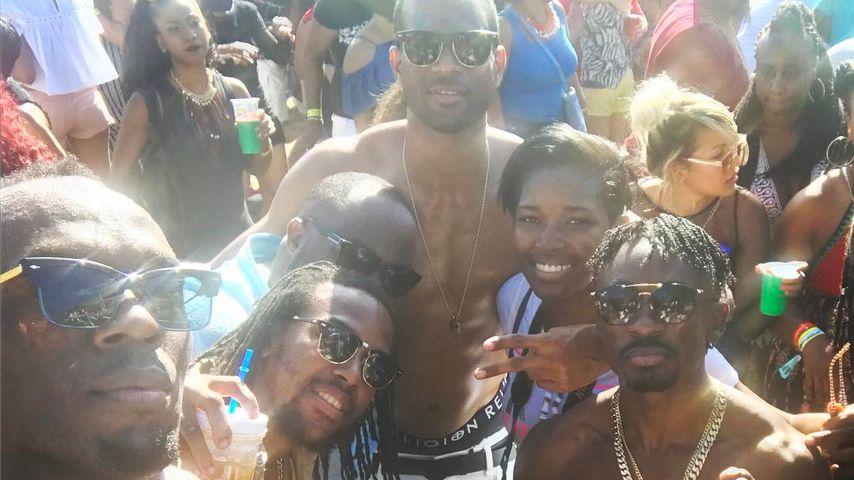 Usain Bolt (links) und Germaine Mason (Mitte)
