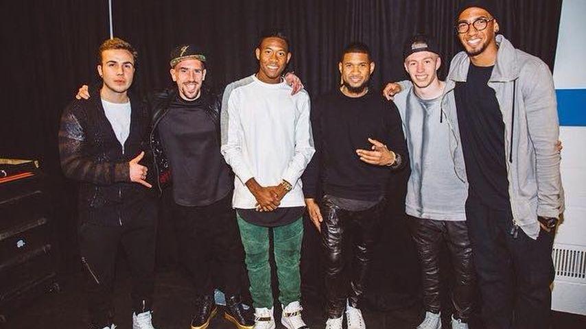 Coole Männer-Runde: Usher feiert mit Götze & Co.