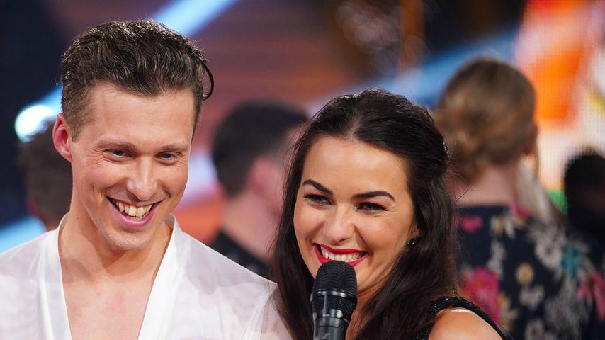 """Valentin und Renata Lusin im Studio von """"Let's Dance"""""""