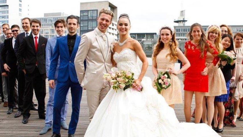 Valentin und Renata Lusin bei ihrer Hochzeit, 2014