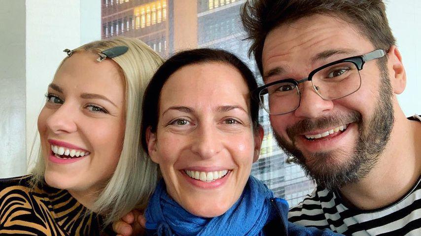 Valentina Pahde, Ulrike Frank und Thomas Drechsel im April 2019