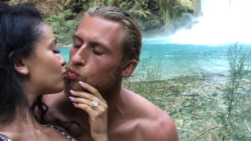 Vanessa Morgan und Michael Kopech bei ihrer Verlobung