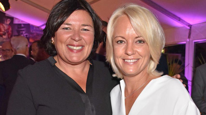 Vera Int-Veen und ihre Frau Obi bei der Bertelsmann Party