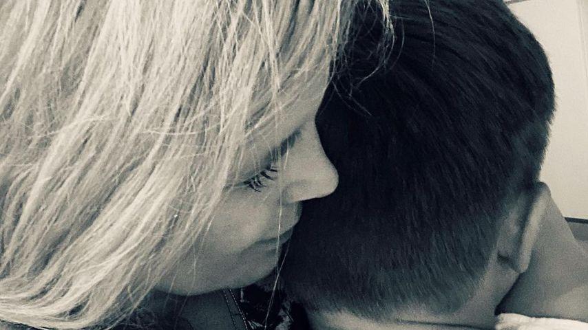 Verena Wriedt mit ihrem Sohn
