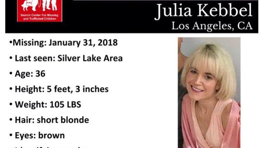 Vermissten-Flyer von Julia Kebbel, Schwester von Arielle Kebbel