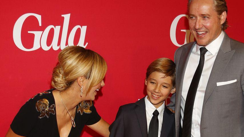 Verona und Franjo Pooth mit ihrem gemeinsamen Sohn San Diego