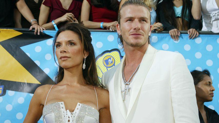 Victoria und David Beckham 2003