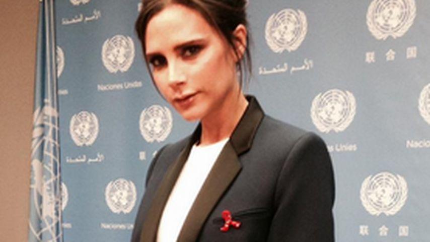 Seltenheit: Victoria Beckham hält flammende Rede