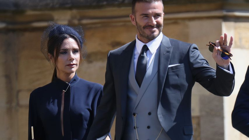 Victoria und David Beckham bei der Royal Wedding 2018