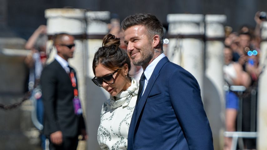 Victoria und David Beckham bei der Hochzeit von Sergio Ramos