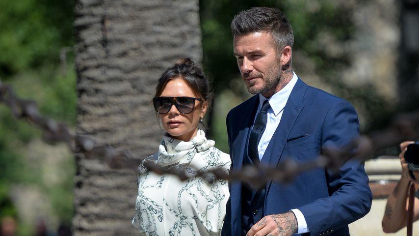 Victoria und David Beckham 2019 bei der Hochzeit von Sergio Ramos