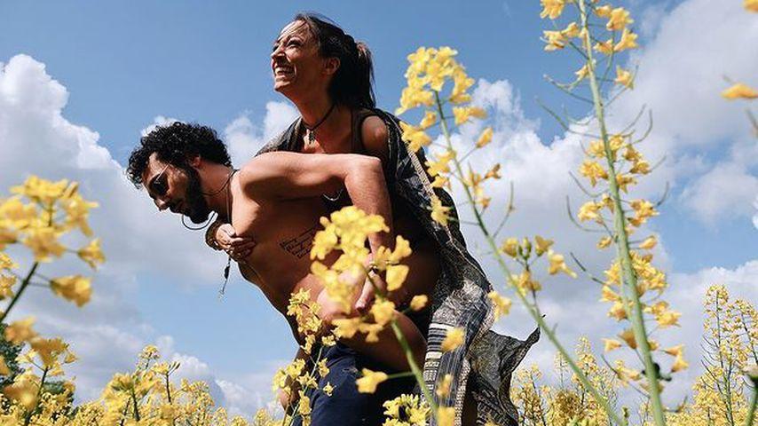 Vildan Cirpan mit ihrem Mann Manu im Jahr 2020