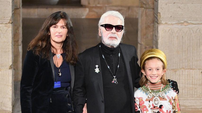 Virginie Viard und Karl Lagerfeld in New York