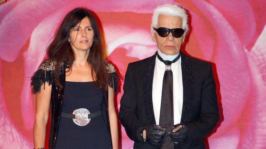 Virginie Viard und Karl Lagerfeld im Jahr 2008