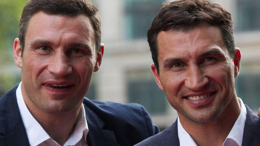 """Vitali und Wladimir Klitschko bei der Premiere von """"Klitschko"""" in London"""